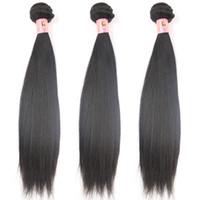Wholesale 100 Virgin Human Hair Weave Brazilian Peruvian Indian Malaysian Straight Hair Remy Hair Weaves bundle cheap human hair Weaving