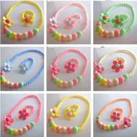 Wholesale Children s jewelry necklace bracelet cute baby jewelry