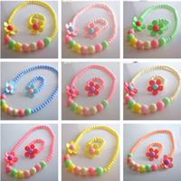Wholesale Children s jewelry necklace bracelet cute baby jewelry
