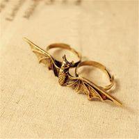 bats trading - Trade jewelry fashion retro punk style big bat Ring Ring Female g