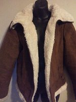 Wholesale Women s Faux Suede Fur Winter Dress Jacket XL DRESSBARN Brown White