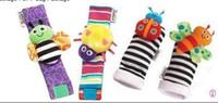 En stock 600P Nouveaux arrivée sozzy poignet hochet finder pieds de bébé jouets de jardin Bug Bee bébé Hochet Chaussettes Lamaze Hochet Chaussettes et bracelet