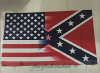 Wholesale Fedex DHL Free x150cm American Flag with Confederate Rebel Civil War Flag new style hot sell x5 Foot Flag L345