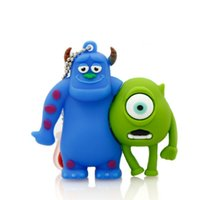 bag shape usb drive - Monsters University Shape Pendrives USB High Quality USB Flash Drive Cheap Pen Drive Real GB GB GB GB OPP Bag