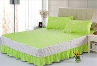 big house clothing - bedding set Cotton suits Bed Big yards clothes Textile Bedspread quilt duvet cover skirt Satin bed linen Sheet house
