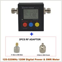Wholesale SURECOM SW MHz VHF UHF W Digital N SL16 VSWR Power amp SWR Meter with RF Adaptor