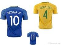 Wholesale 2016 New Brazil soccer jersey NEYMAR JR SILVA OSCAR COSTA DAVID LUIZ Brazil football jersey