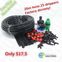 Wholesale Free ships m Hose x Drippers Micro Irrigation Drip System Plant Garden Watering Kit