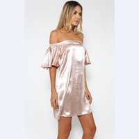basic paragraphs - Europe and the United States hot style dress sets paragraphs qiu dong the whole single basic splicing ice silk feifei sleeve dress pure colo