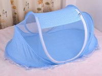 Wholesale New Baby Cribs Years Baby Bed With Pillow Mat Set Portable Foldable Crib With Netting Newborn Cotton Sleep Travel Bed