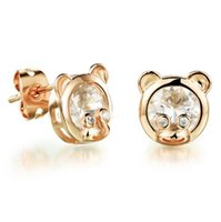 Stud animal Boucles d'oreilles en or 18 carats Mode / Vintage Bijoux Plaqué femmes Cute Femme Cadeau Earring KE652