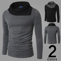Wholesale new men fashion european style comfortable solid pullovers sweaters high quality on discount