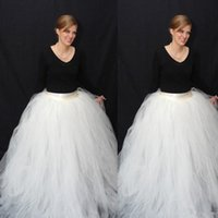 Wholesale Floor Length Ball Gown Long Tulle Skirts For Women High Waist Princess Womens Plus Size Quality Tulle SKirt