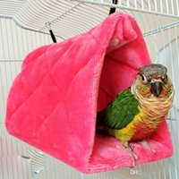 Wholesale Plush Parrot Hammock Hanging Cave Cage Snuggle Soft Hut Tent Bed Bunk Bird Toy G01347