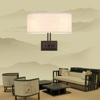 Wholesale New Chinese style wall lamp sitting room Sweet bedroom the head of a bed lamp is contracted and contemporary archaize creative hotel corrido