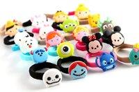 Wholesale Mickey Minnie Lilo Stitch girls hairpins Hair Ring children cartoon hair accessories Fashion