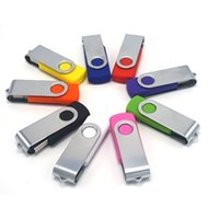 Wholesale Swivel USB Flash Drive stick disk pen drive Customized Logo USB GB GB GB GB Multi Color Shock for gift or use