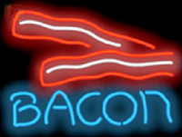 bacon light - Bacon Neon Sign Restaurant Breakfast Food Dishes Eating Advertisement Display Sign Custom Handcrafted Real Glass Tube Neon Light quot x18 quot