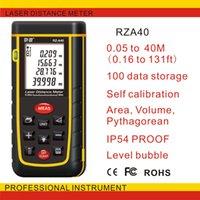 Wholesale laser rangefinder RZA40 Laser Distance Meter m Bubble level tool Rangefinder Range finder Tape distance measurer