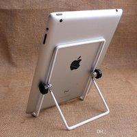aluminium angle sizes - 3 piece Start Sale Big Size Metal Tablet PC Stand Mount Holder Foldable Multi angle Non slip For iPad air1 Mini