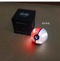 Wholesale Pokeball mAh Power Bank Battery Charger with Poke ball LED light portable charge for samsung S6 S7 edge iphone6 s
