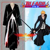 Wholesale Bleach Ichigo Kurosaki Bankai Cosplay Costume custom made any size W0004
