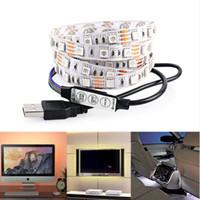 backlight systems - Light for HDTV USB LED Backlight Strip RGB Bright V LED Neon Accent Lighting System for Flat Screen TV LCD Desktop Monitors