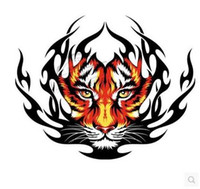 Wholesale Automobile door head cover sticker label tiger reserve flame tire car sticker decal personality body garland