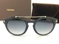 Wholesale New Fashion TOM Sunglass Men Vintage Sunglasses Men Women Brand Designer Round Metal Sun Glasses Oculos de sol masculino