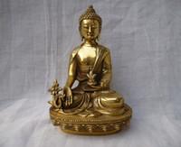 antique buddha statues - Tibet Tibetan brass Medicine Buddha Statue