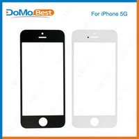 Wholesale For iPhone G c s Front Outer Glass Lens Screen Digitizer Touch Panel Screen Cover Black White copy A quality