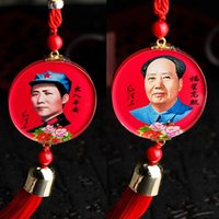 bead things - pendent lucky head picture of mao zedong safe trip symbol with rosary beads and flow comb every thing will be good
