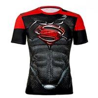 batman logo shirt - New Men s Cool Creative T Shirt Batman Vs Superman Logo Short Sleeve Fitness Bodybuilding Compression D T Shirt M XXL