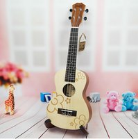 Wholesale 21 quot quot Ukulele UK YMH Soprano Spruce Wood Top inch Hawaiian String Guitar Aquila Strings Musical Instrument for Children