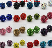 balls foods - 100pcs lowest price mm mixed multi color ball Crystal Shamballa Bead Bracelet Necklace Beads Hot new beads Rhinestone DIY spacer