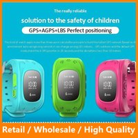 baby gifts fitness - 2016 Smart Kid Safe GPS Watch Wristwatch SOS Call Location Finder Locator Tracker for Kid Child Anti Lost Monitor Baby Gift Q50