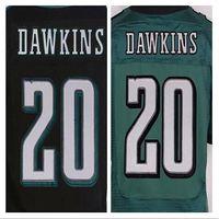 Wholesale Top quality jersey cheap Brian Dawkins Jersey black green Elite Men s Stitched Jerseys size M XXXL