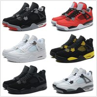 Cheap Children Kids Wholesale Retro 4 Basketball Shoes Men Cheap J4 IV Boots Authentic Online For Sale Sneakers Mens Sport Shoes Free Shipping