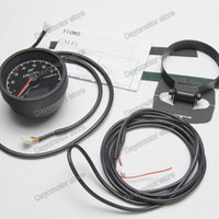 Wholesale Racing Greddy Tachometer Gauge RPM Gauge Light Colors LCD Display With Voltage Meter Car Gauge mm Inch