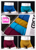 Wholesale Men underwear friber and cotton soft sexy underwear with breathable health boxer underwear with opp bag boxs
