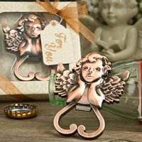 antique baby bottle - Baby Shower Favors Antique Copper Angel Cherub Wine Bottle Opener Wedding Bridal Shower Favors