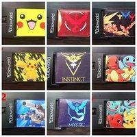 Wholesale Cartoon Poke Go Wallet Fashion Team Valor Mystic Instinct Pikachu Purse PU Leather Wallet For Men Women Fans cm cm