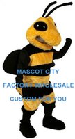 bee outfit - Hornet Mascot Costume Adult Size Hornet Bee Mascotte Outfit Suit Party Halloween Christmas Carnival Costumes SW545