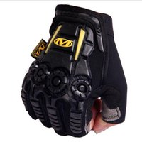 Wholesale Male Female Fingerless Mechanix Gloves US Army Tactical Anti Slip Outdoor Sports Training Cut Resistant Mittens
