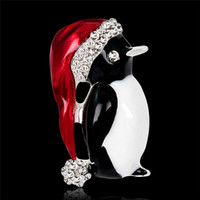 Wholesale Series of Christmas Ornaments Europe and the United States the New Brooch Cute Little Penguin Corsage Accessories