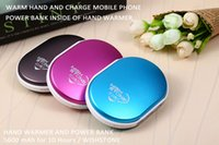 Cheap RUMI 2 in 1 Hand Warmer with Power Bank 5600 mAh Backup Battery Charger Alloy Shell Double Heating Portable Hand Warmer