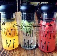 Wholesale Explosion Models Korea Style Promise Me Portable Lemonade Water Bottle Plastic Fruit Juice Cup Fashion Sports Bottles M210
