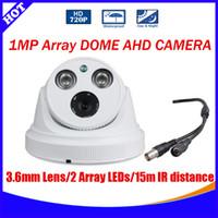 array plastics - cctv dome ahd camera mega array led plastic case MP TVL High Resolution indoor ahd Camera With good night vision