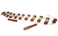 bamboo massage therapy - natural Bamboo and wood Pull the back device roll Beads massager Triangle pull back massage
