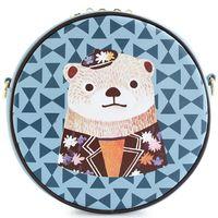 bear bow youth - 2016 Bear Bow Circular Animal Prints Cartoon Women Fashion Bags Leather PU Women s Mini Youth Shoulder Messenger Crossbody Bags